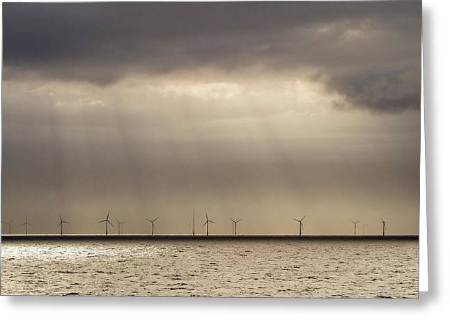An Offshore Wind Farm In Dutch Waters Greeting Card