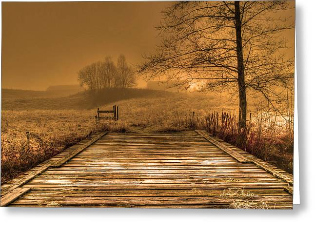 An Old Bridge In The Country Greeting Card by Tommytechno Sweden