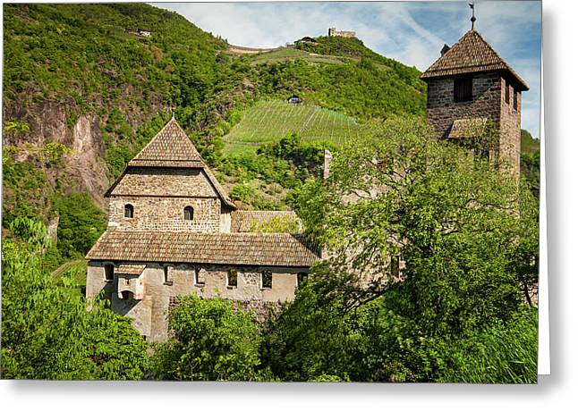 An Old Castle Ruin In Northern Italy Greeting Card