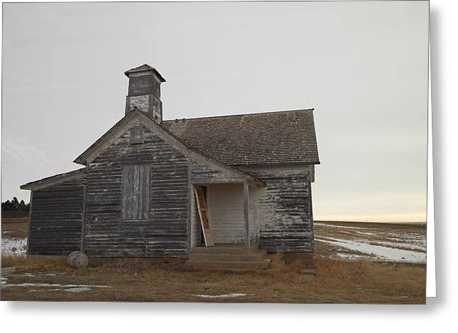 An Old Church On The Prairie  Greeting Card by Jeff Swan