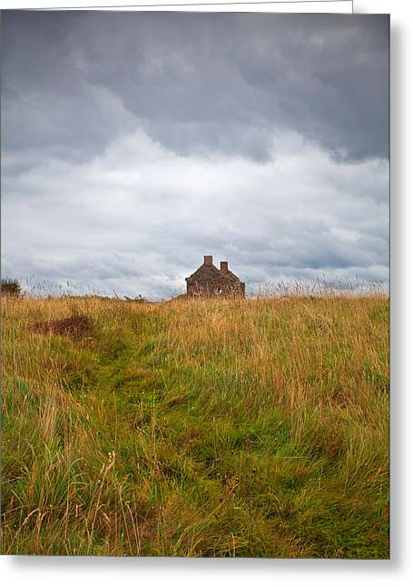 An Old Deserted Cottage At Rosses Greeting Card by Panoramic Images