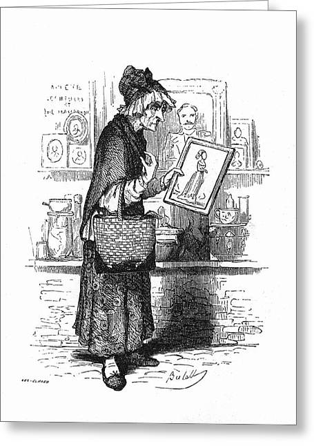 An Old Lady Buying A Picture Of A Young Greeting Card