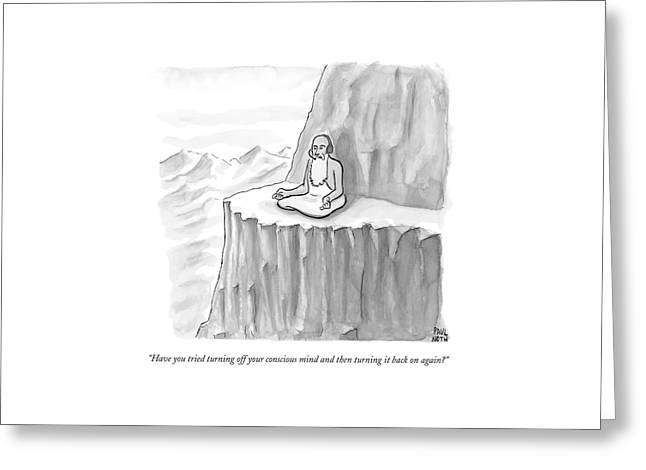An Old Man Gives Metaphysical Advice Greeting Card by Paul Noth