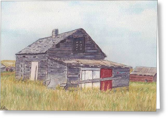 An Old Memory Home In The Grand Prairies Greeting Card