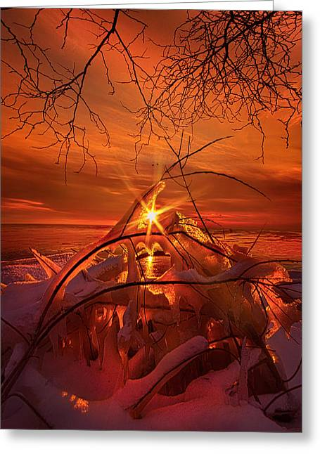An Old Peaceful Tale Greeting Card by Phil Koch