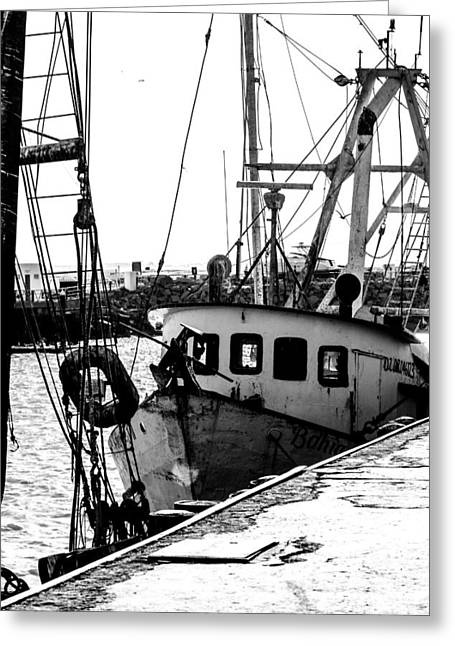 An Old Trawler Greeting Card by Dick Botkin