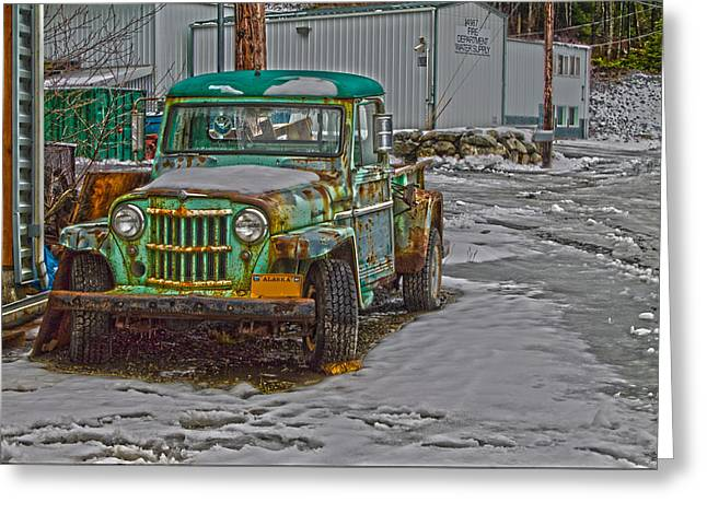 Greeting Card featuring the photograph An Old Truck by Timothy Latta