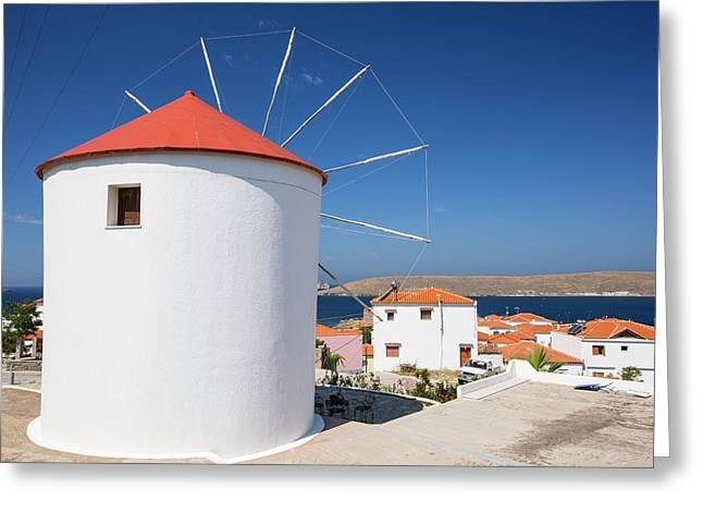 An Old Windmill Converted Into A House Greeting Card