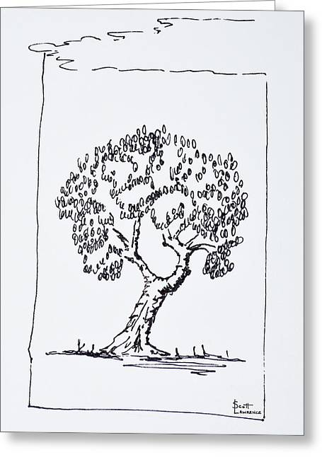 An Olive Tree In The South Of France Greeting Card