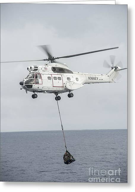An Sa-330 Puma Transport Helicopter Greeting Card