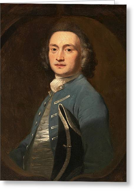 An Unknown Man, Sir Joshua Reynolds, 1723-1792 Greeting Card by Litz Collection