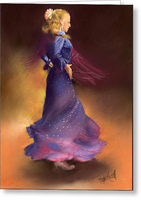 Ana Greeting Card by Margaret Merry