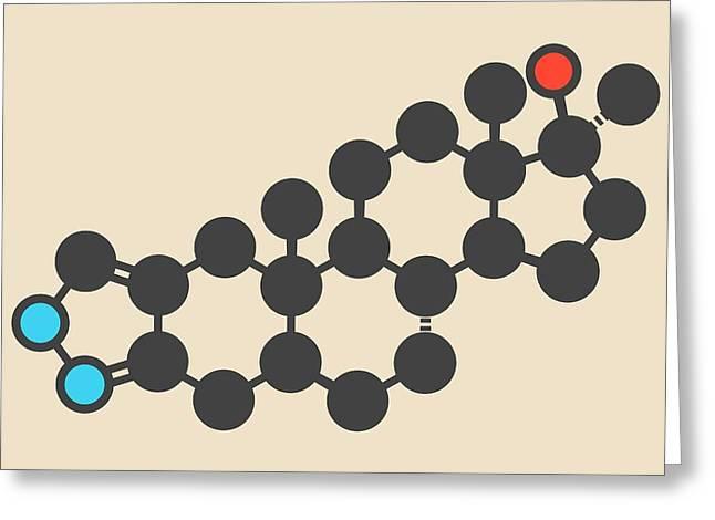 Anabolic Steroid Drug Molecule Greeting Card by Molekuul