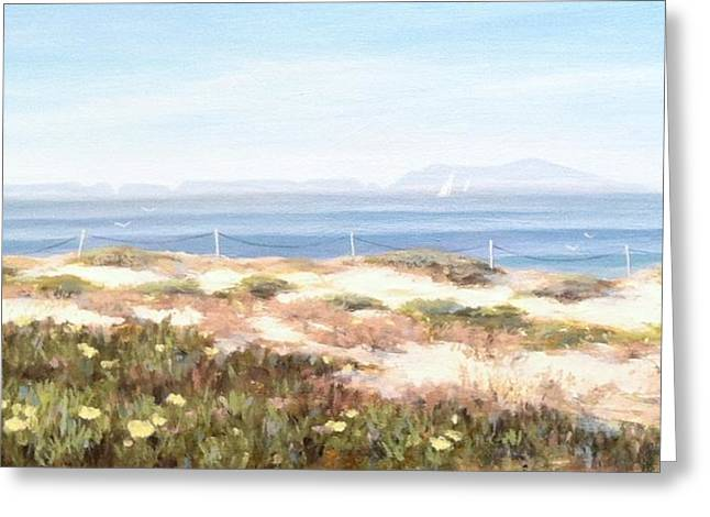 Anacapa Island In The Springtime Greeting Card by Tina Obrien