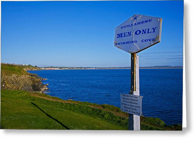 Anachronistic Sign, Guillamene Swimming Greeting Card by Panoramic Images