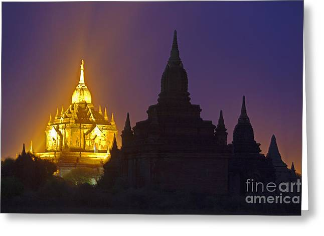 Anada Temple Bagan Myanmar Greeting Card by Craig Lovell