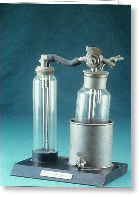 Anaesthetic Apparatus Greeting Card by Science Photo Library