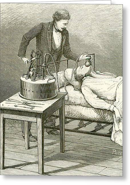 Anaesthetist Administering Chloroform Greeting Card
