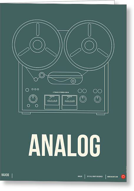 Analog Poster Greeting Card