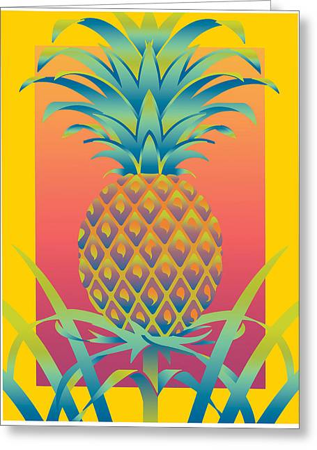 Ananas Greeting Card