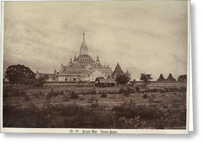 Ananda Pagoda Greeting Card by British Library