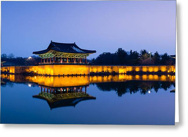 Anapji Pond At Dusk Greeting Card