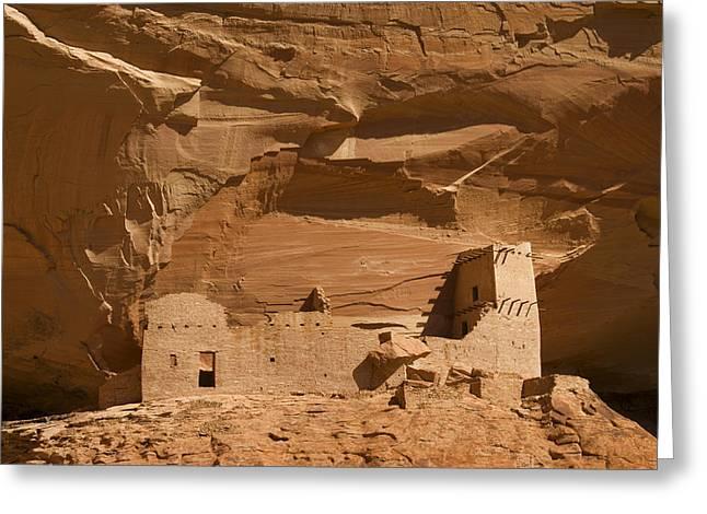 Anasazi Cliff Dwellings Canyon De Chelly Greeting Card by Tom Vezo