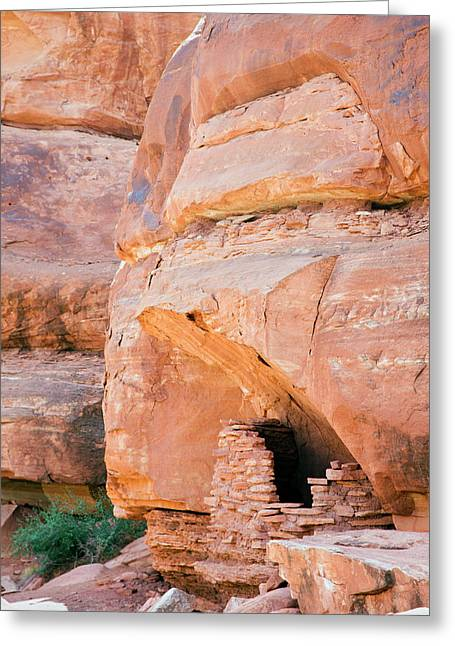 Anasazi Grain Store Greeting Card by Jim West