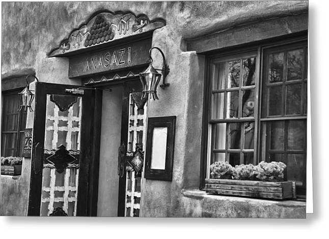 Greeting Card featuring the photograph Anasazi Inn Restaurant by Ron White