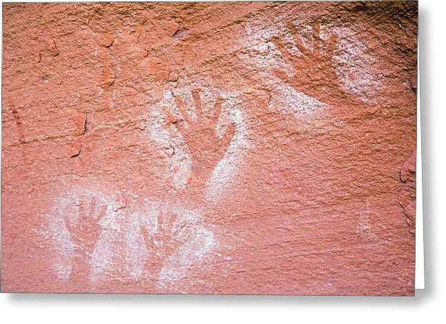 Anasazi Pictographs Greeting Card by Jim West