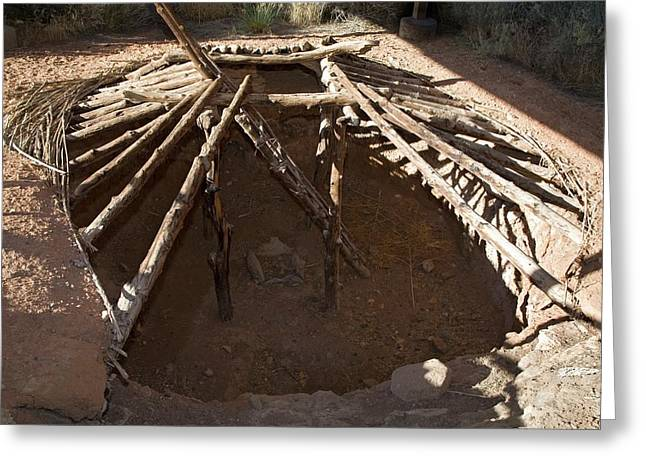 Anasazi Pit House Greeting Card by Jim West