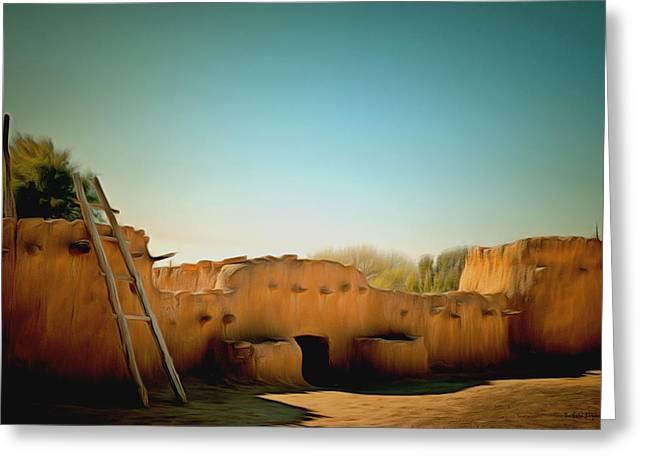 Anasazi Pueblos 3 Greeting Card by Barbara Snyder