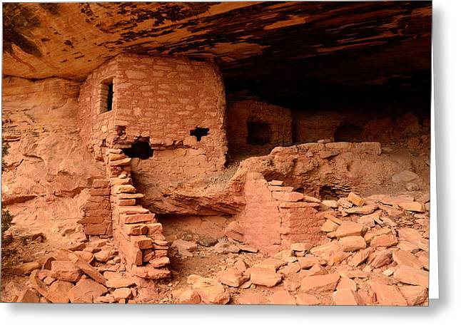 Anasazi Ruins At Comb Ridge Greeting Card