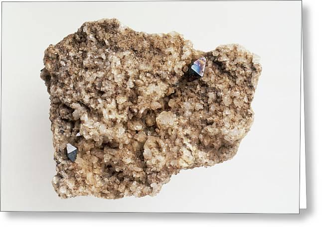 Anatase Mineral (titanium Oxide) Greeting Card by Dorling Kindersley/uig
