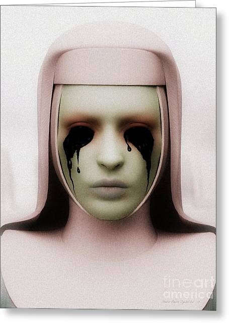 Greeting Card featuring the digital art Anathema by Sandra Bauser Digital Art