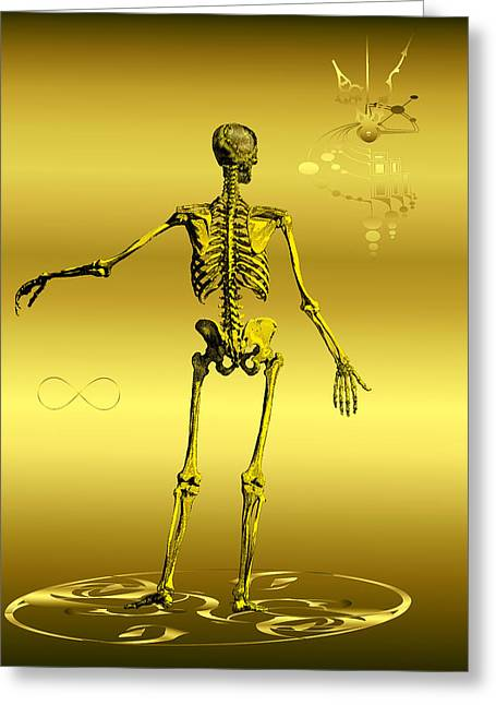 Anatomia Fatis Greeting Card