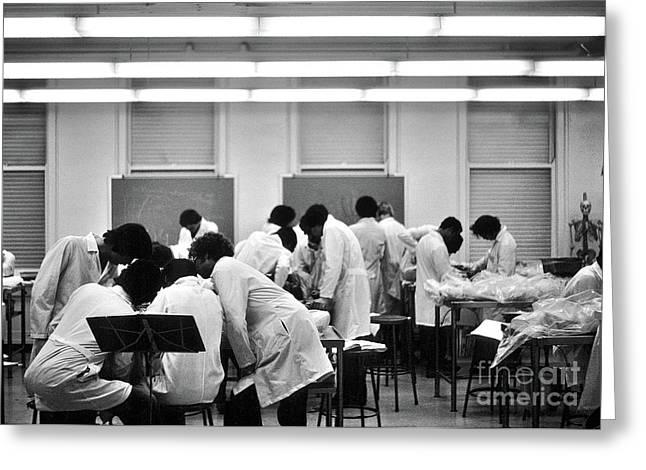 Anatomy Class V2 1976 University Of Chicago  Greeting Card