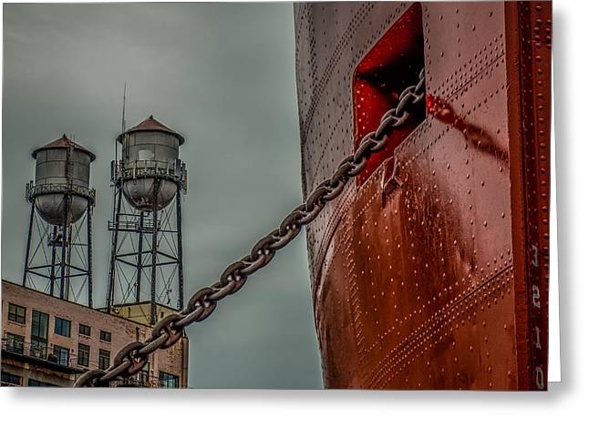 Anchor Chain Greeting Card by Paul Freidlund