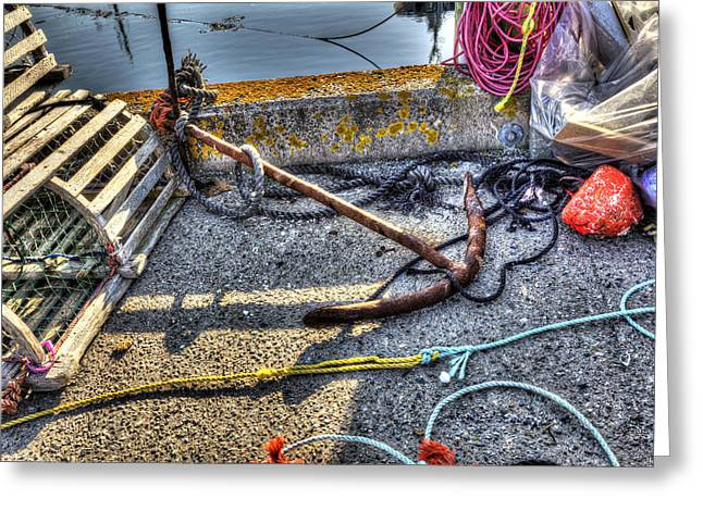 Greeting Card featuring the photograph Anchor by Shawn Everhart