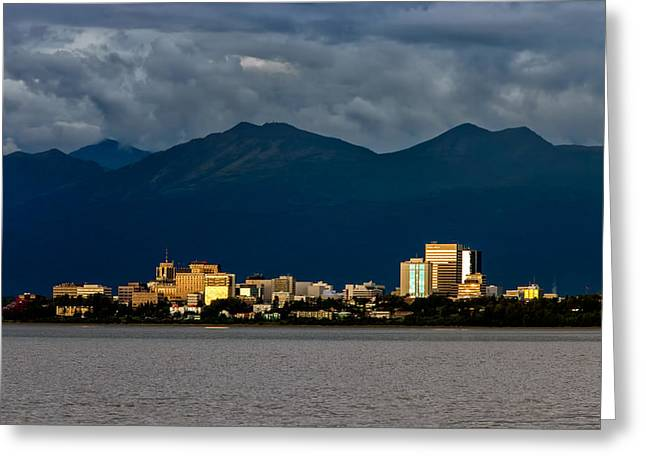 Anchorage Greeting Card by Rick Berk