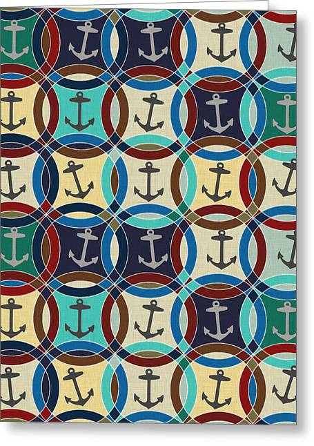 Anchors Greeting Card by Sharon Turner