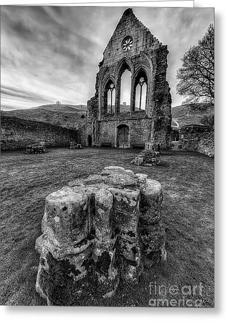 Ancient Abbey Greeting Card by Adrian Evans