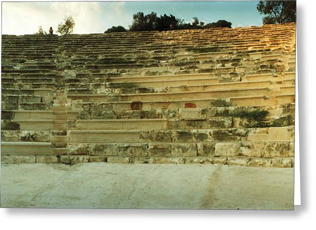 Ancient Antique Theater In Kas Greeting Card by Panoramic Images