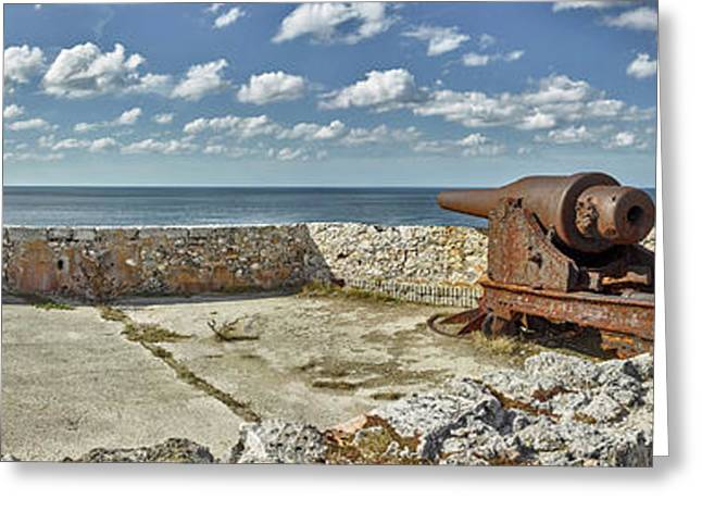 Ancient Artillery At Morro Castle Greeting Card