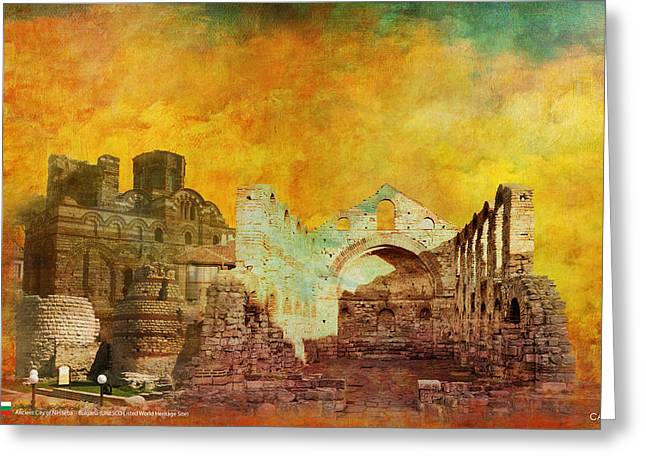 Ancient City Of Nesseba Greeting Card by Catf
