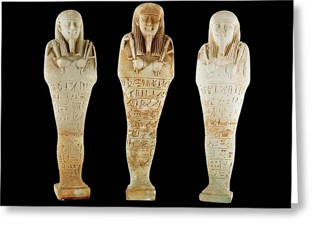 Ancient Egyptian Funerary Figurines Greeting Card