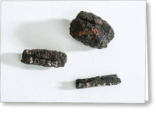 Ancient Egyptian Meteoric Iron Beads Greeting Card by Petrie Museum Of Egyptian Archaeology, Ucl