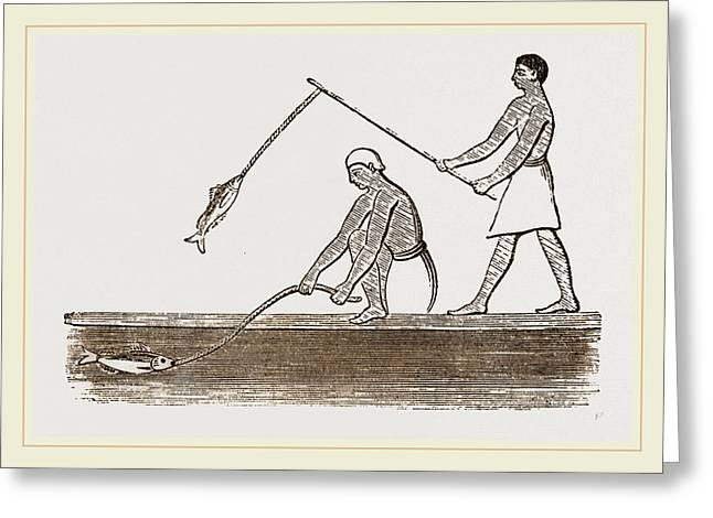 Ancient Egyptians Angling Greeting Card