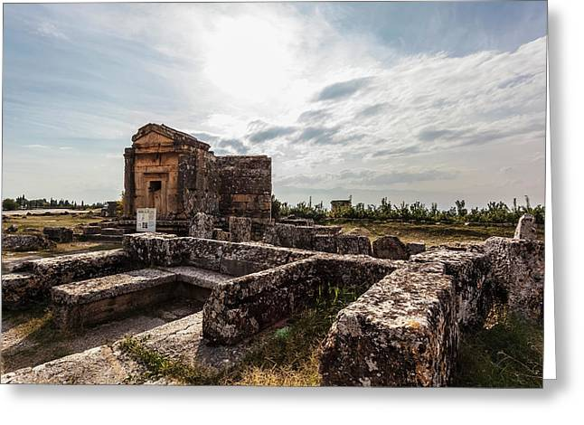 Ancient Graves And Burial Chamber Greeting Card