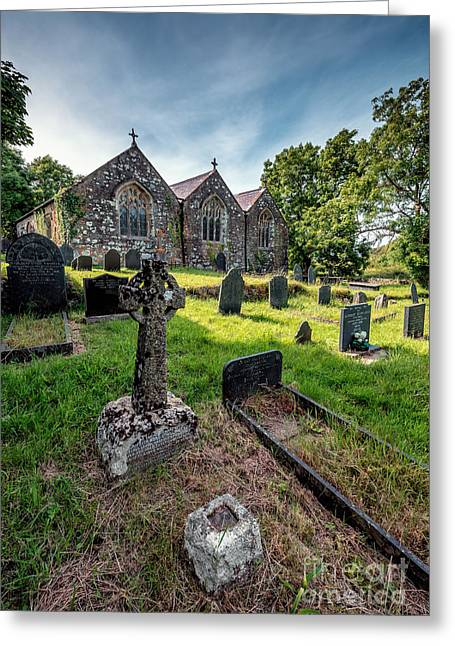 Ancient Graveyard   Greeting Card by Adrian Evans